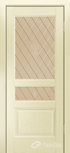 Двери ЛайнДор Калина К тон 42 стекло Лилия бронза