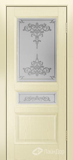 Двери ЛайнДор Калина К тон 42 стекло Лира светлое