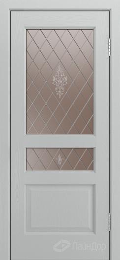 Двери ЛайнДор Калина К тон 46 стекло Лилия-бронза