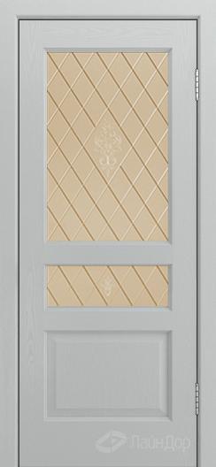 Двери ЛайнДор Калина К тон 46 стекло Лилия бронза