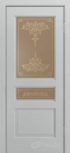 Двери ЛайнДор Калина К тон 46 стекло Лира бронза