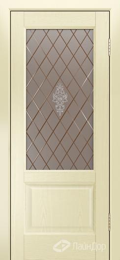 Двери ЛайнДор Кантри К тон 42 стекло Лилия бронза