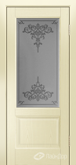 Двери ЛайнДор Кантри К тон 42 стекло Лира светлое