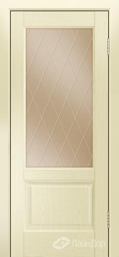 Двери ЛайнДор Кантри К тон 42 стекло Лондон бронза