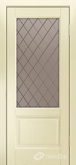 Двери ЛайнДор Кантри К тон 42 стекло Милтон бронза