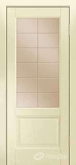 Двери ЛайнДор Кантри К тон 42 стекло Решетка бронза