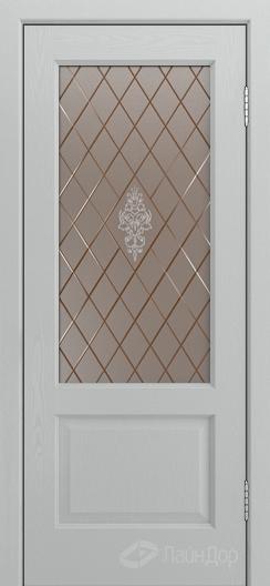 Двери ЛайнДор Кантри К тон 46 стекло Лилия бронза