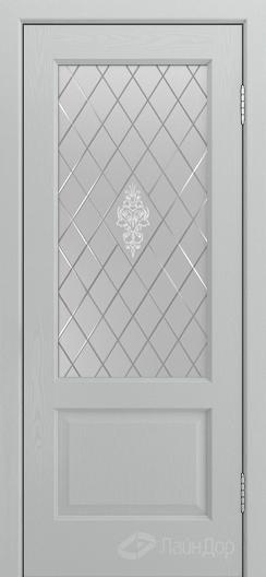 Двери ЛайнДор Кантри К тон 46 стекло Лилия светлое