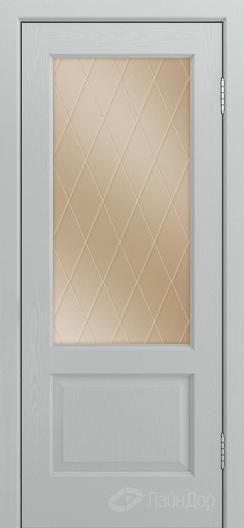 Двери ЛайнДор Кантри К тон 46 стекло Лондон бронза