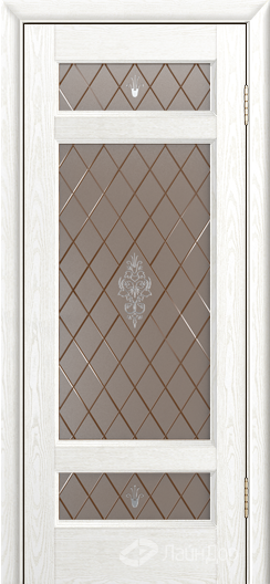 Двери ЛайнДор Мишель К тон 38 стекло Лилия бронза