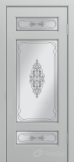Двери ЛайнДор Мишель К тон 46 стекло Виви сатин