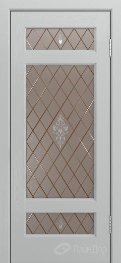 Двери ЛайнДор Мишель К тон 46 стекло Лилия бронза