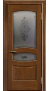 Дверь ЛайнДор Алина 2 американский орех 23 стекло Алина 2