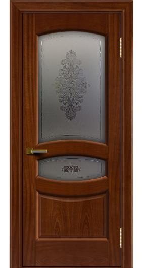 Дверь ЛайнДор Алина 2 красное дерево 10 стекло Алина 2