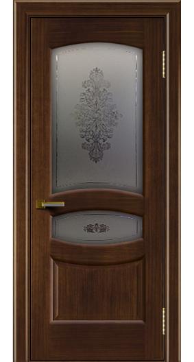 Дверь ЛайнДор Алина 2 орех 2 стекло Алина 2