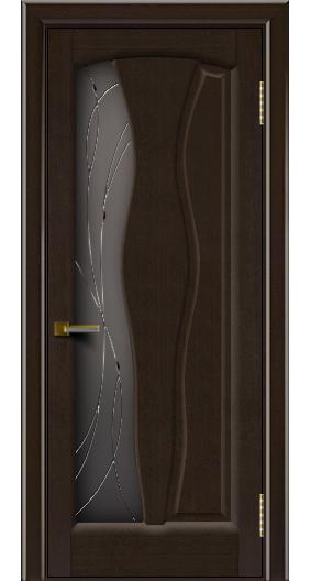 Дверь ЛайнДор Анжелика венге 12 стекло Анжелика
