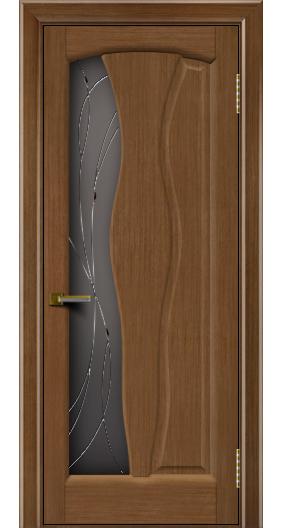 Дверь ЛайнДор Анжелика 2 дуб 5 стекло Анжелика