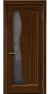 Дверь ЛайнДор Анжелика 2 орех 2 стекло Анжелика