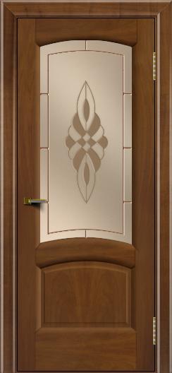 Двери ЛайнДор Анталия 2 американский орех тон 23 стекло Византия бронза