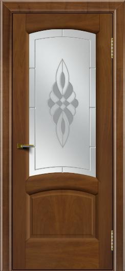 Двери ЛайнДор Анталия 2 американский орех тон 23 стекло Византия