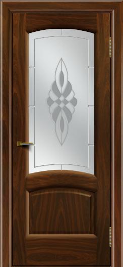 Двери ЛайнДор Анталия 2 американский орех тон 25 стекло Византия