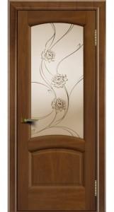 Дверь ЛайнДор Анталия 2 американский орех 23 стекло Астра