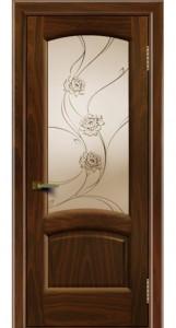 Дверь ЛайнДор Анталия 2 американский орех 25 стекло Астра