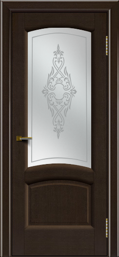 Двери ЛайнДор Анталия 2 венге тон 12 стекло Айрис сатин