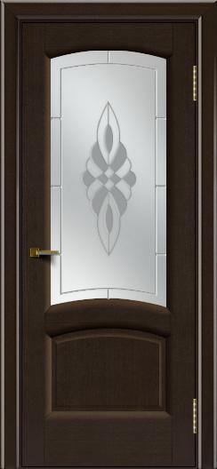Двери ЛайнДор Анталия 2 венге тон 12 стекло Византия сатин