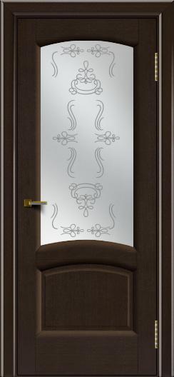 Двери ЛайнДор Анталия 2 венге тон 12 стекло Пальмира сатин