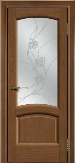 Двери ЛайнДор Анталия 2 дуб тон 5 стекло Астра наливка