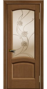 Дверь ЛайнДор Анталия 2 дуб 5 стекло Астра