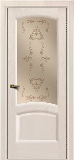 Двери ЛайнДор Анталия 2 жемчуг тон 27 стекло Пальмира бронза
