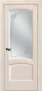Двери ЛайнДор Анталия 2 жемчуг тон 27 стекло 3Д Роза