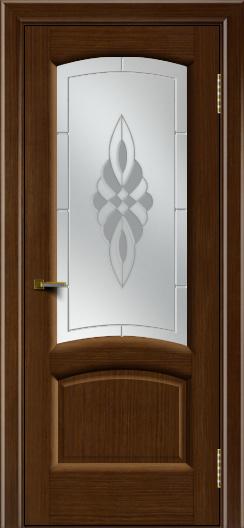 Двери ЛайнДор Анталия 2 орех тон 2 стекло Византия