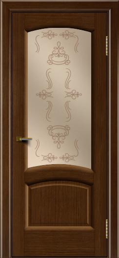 Двери ЛайнДор Анталия 2 орех тон 2 стекло Пальмира бронза