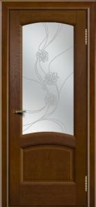 Двери ЛайнДор Анталия 2 тон 30 стекло Астра наливка