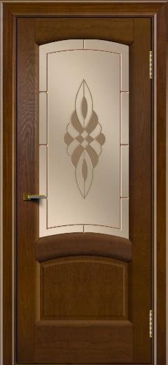 Двери ЛайнДор Анталия 2 тон 30 стекло Византия бронза