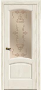Двери ЛайнДор Анталия 2 тон 36 стекло Пальмира бронза