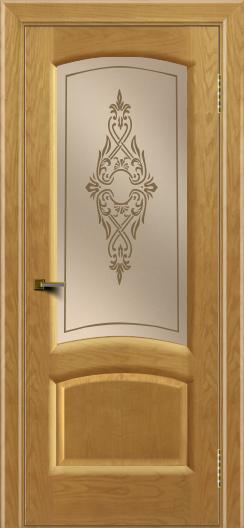 Двери ЛайнДор Анталия 2 ясень тон 24 стекло Айрис бронза