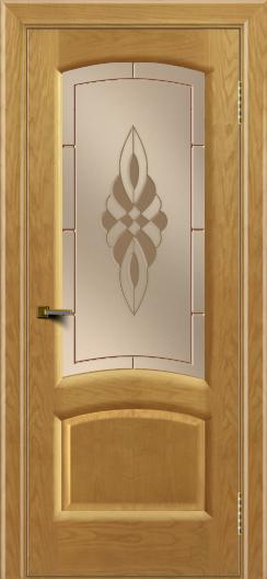Двери ЛайнДор Анталия 2 ясень тон 24 стекло Византия бронза