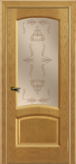 Двери ЛайнДор Анталия 2 ясень тон 24 стекло Пальмира бронза