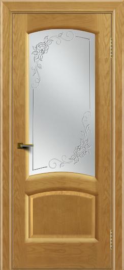 Двери ЛайнДор Анталия 2 ясень тон 24 стекло 3Д Роза