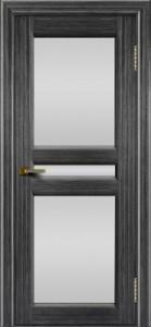 Дверь ЛайнДор Кристина 2 абрикос 22 полное белое стекло