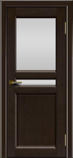 Дверь ЛайнДор Кристина 2 американский венге 12 белое верхнее стекло