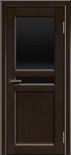 Дверь ЛайнДор Кристина 2 американский венге 12 черное верхнее стекло