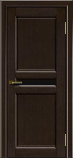 Дверь ЛайнДор Кристина 2 американский венге 12 черное малое стекло