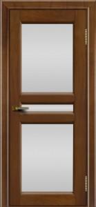 Дверь ЛайнДор Кристина 2 американский орех 23 полное белое стекло