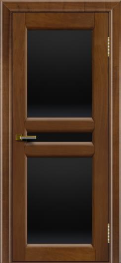 Дверь ЛайнДор Кристина 2 американский орех 23 полное черное стекло