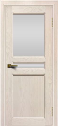 Дверь ЛайнДор Кристина 2 жемчуг Белое верхнее стекло